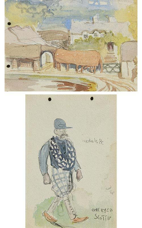 Jack Butler Yeats, One Eyed Scottie at Morgan O'Driscoll Art Auctions