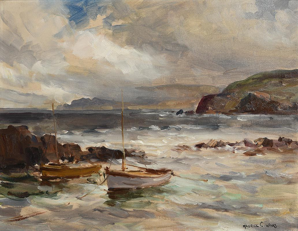 Maurice Canning Wilks, Stormy Day, Cushendun, Co Antrim at Morgan O'Driscoll Art Auctions