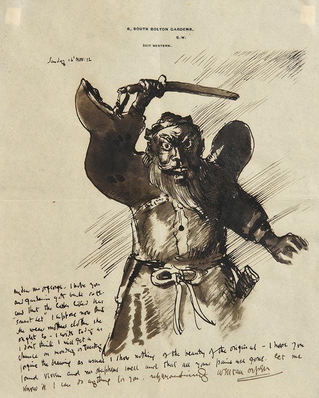 Sir William Orpen, A Bearded Barbarian (1912) at Morgan O'Driscoll Art Auctions