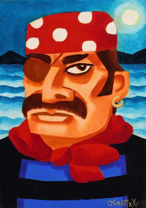 Graham Knuttel, Aye Aye Captain at Morgan O'Driscoll Art Auctions