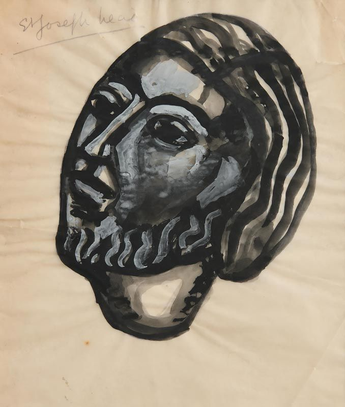 Evie Hone, Head of St. Joseph (c.1952) at Morgan O'Driscoll Art Auctions