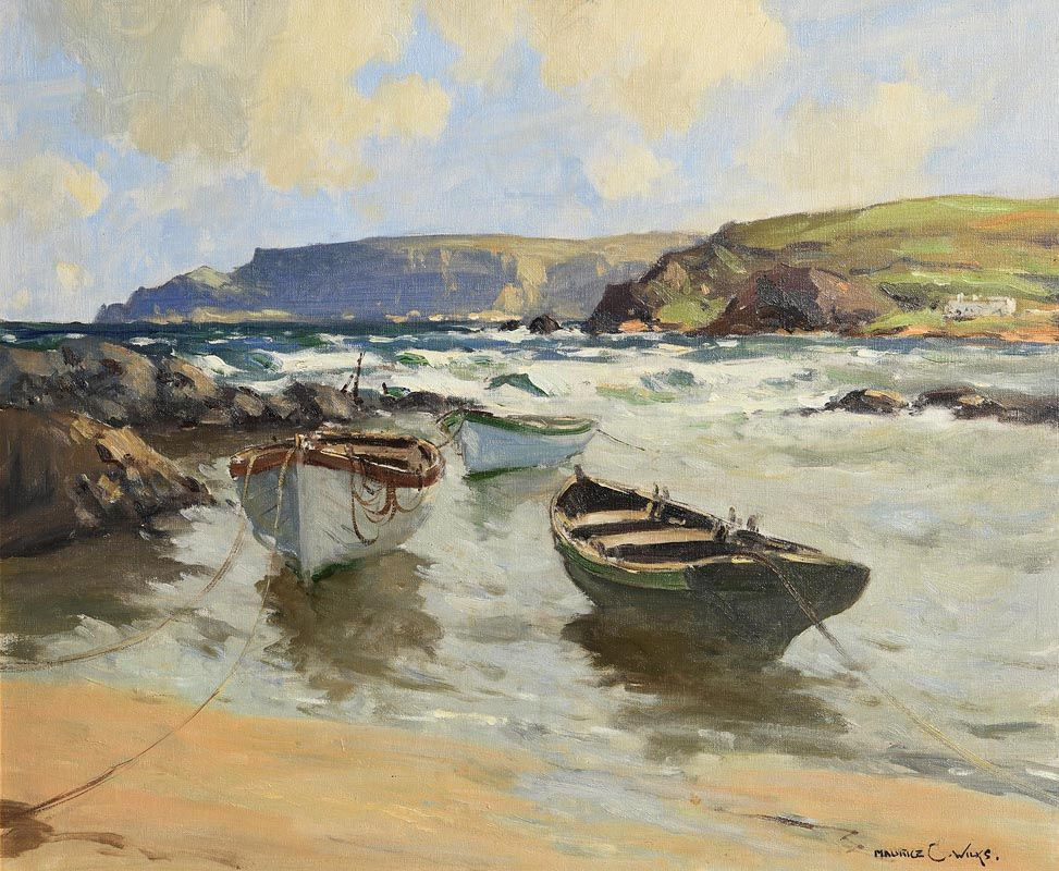 Maurice Canning Wilks, Easterly Winds, Antrim Coast at Morgan O'Driscoll Art Auctions