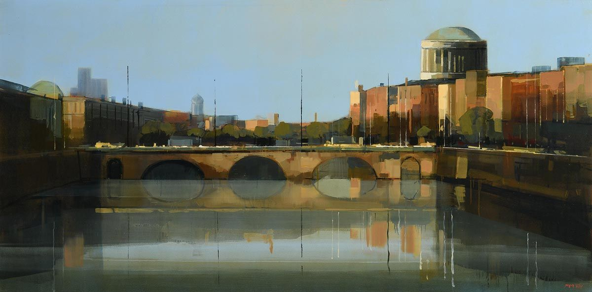 Martin Mooney, Dublin from Courts and Liffey (2014) at Morgan O'Driscoll Art Auctions