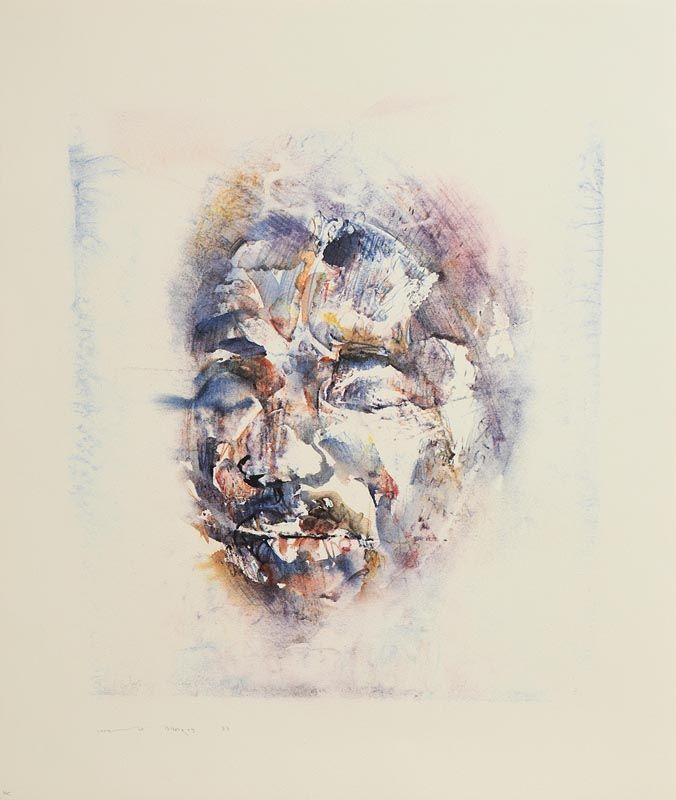Louis Le Brocquy, Head of Nelson Mandela (1983) at Morgan O'Driscoll Art Auctions