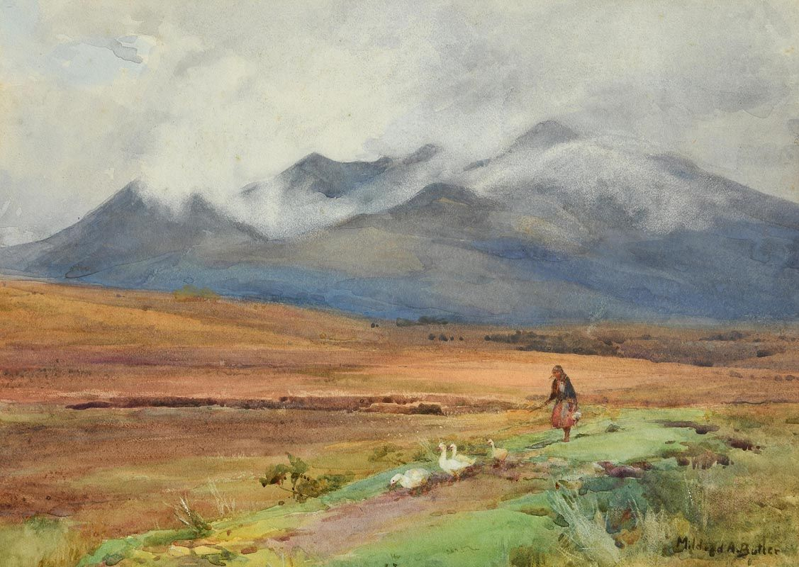 Mildred Anne Butler, MacGillycuddy Reeks, Co Kerry at Morgan O'Driscoll Art Auctions
