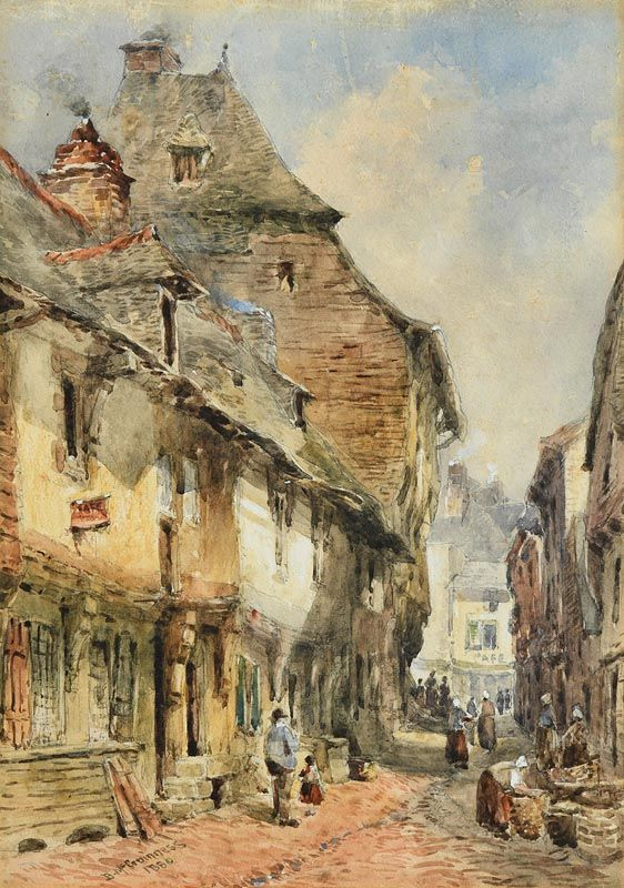 William Bingham, A Street in Dinan, Brittany (1880) at Morgan O'Driscoll Art Auctions