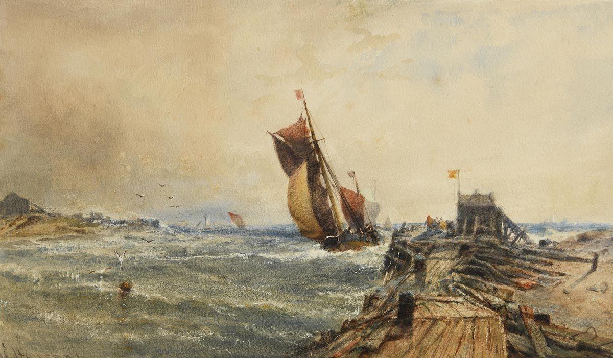 Edwin Hayes, Smacks Returning at Morgan O'Driscoll Art Auctions