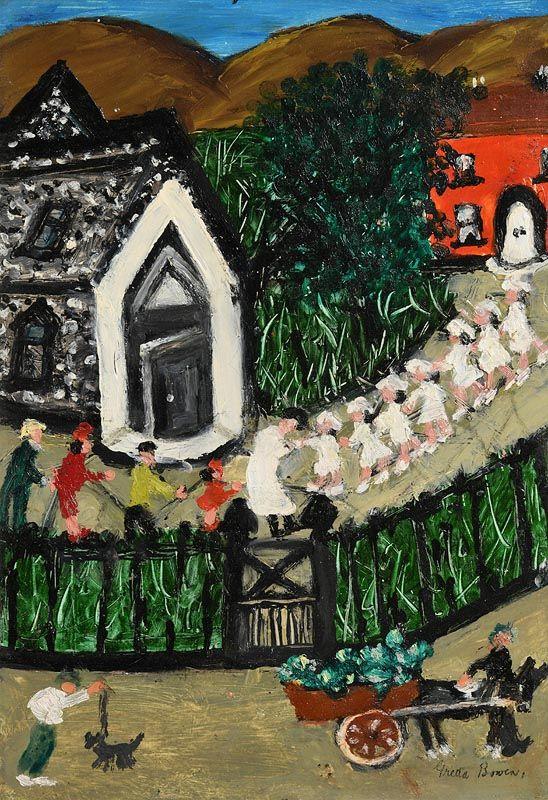 Gretta Bowen, First Communion Procession at Morgan O'Driscoll Art Auctions