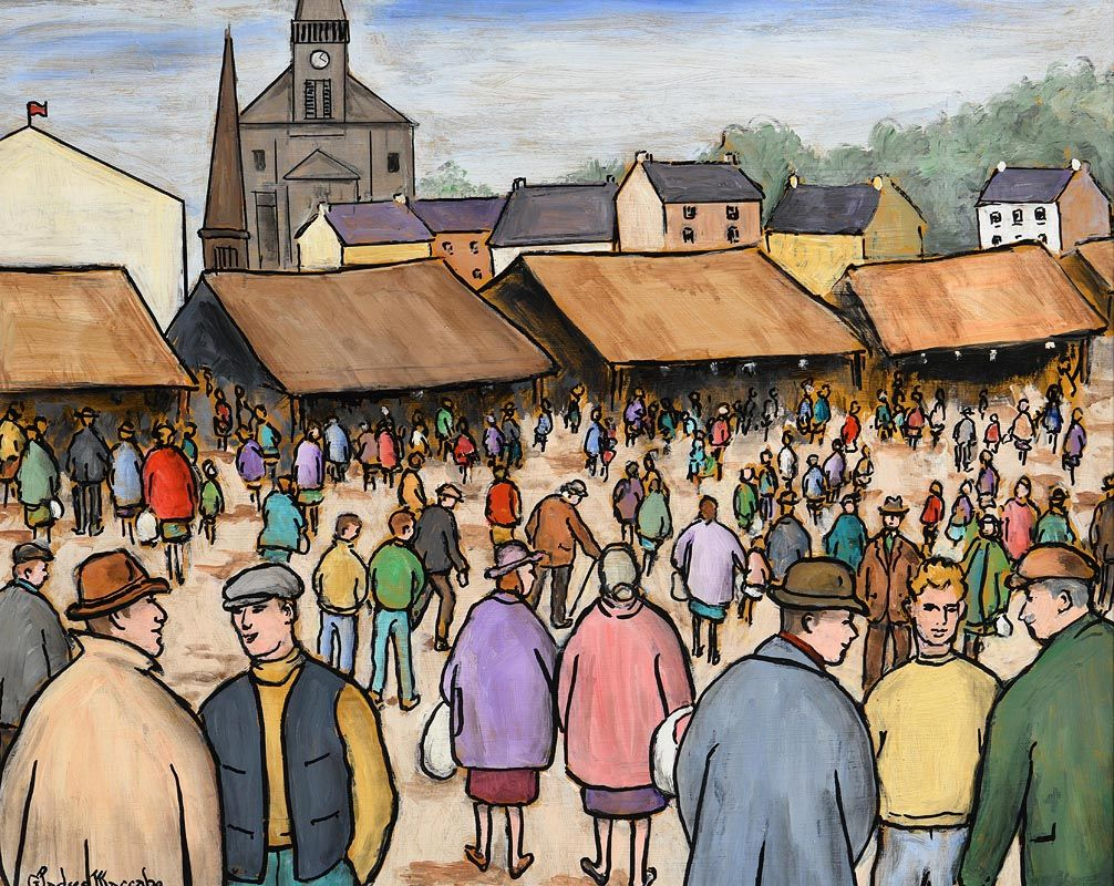 Gladys MacCabe, The Lammas Fair in the Afternoon at Morgan O'Driscoll Art Auctions