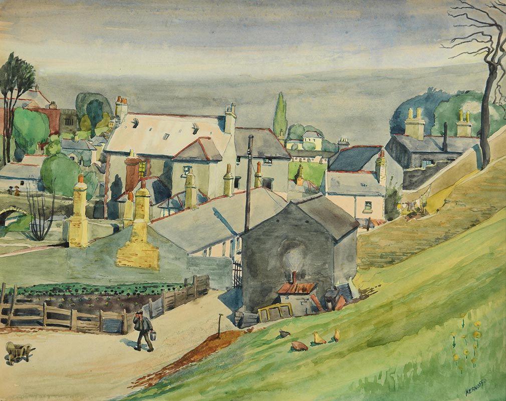 Harry Aaron Kernoff, Old Village Milltown, Dublin (1935) at Morgan O'Driscoll Art Auctions