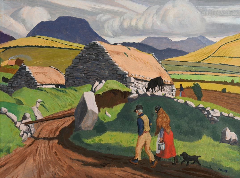 Harry Aaron Kernoff, The Twelve Pins, Renvyle, Connemara at Morgan O'Driscoll Art Auctions