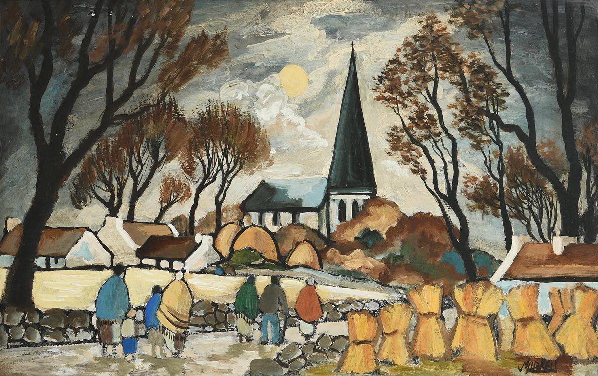 Markey Robinson, Church Harvest at Morgan O'Driscoll Art Auctions