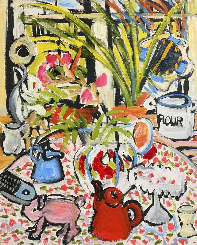 Elizabeth Cope, Still Life on Tabletop (2006) at Morgan O'Driscoll Art Auctions
