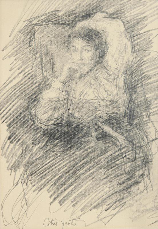 John Butler Yeats, Mary 'Cottie' Yeats (c.1903-4) at Morgan O'Driscoll Art Auctions