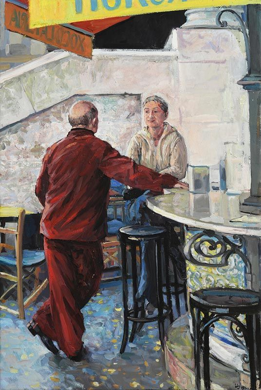 Hector McDonnell, Bar in Valencia Market at Morgan O'Driscoll Art Auctions