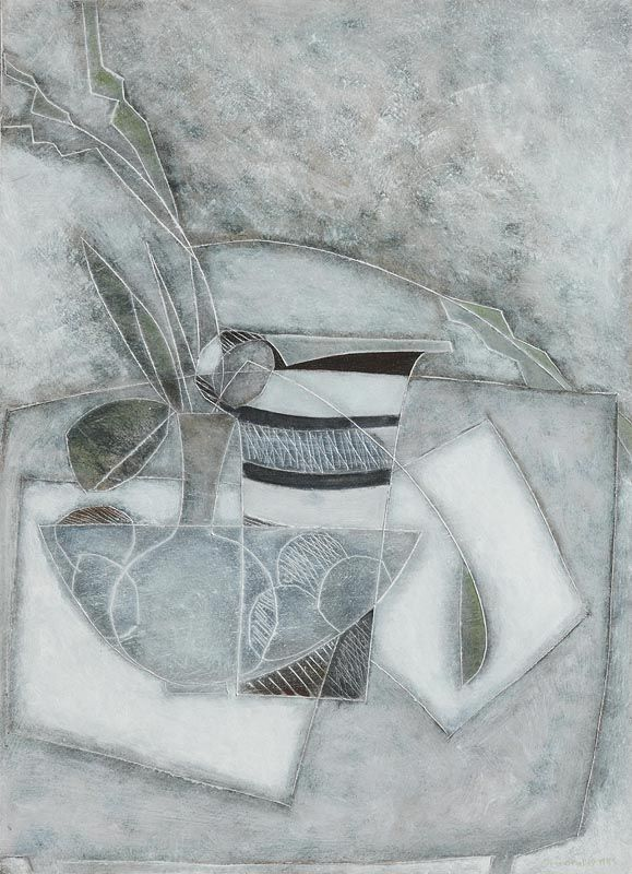 Jane O'Malley, Still Life - Grey (1985) at Morgan O'Driscoll Art Auctions