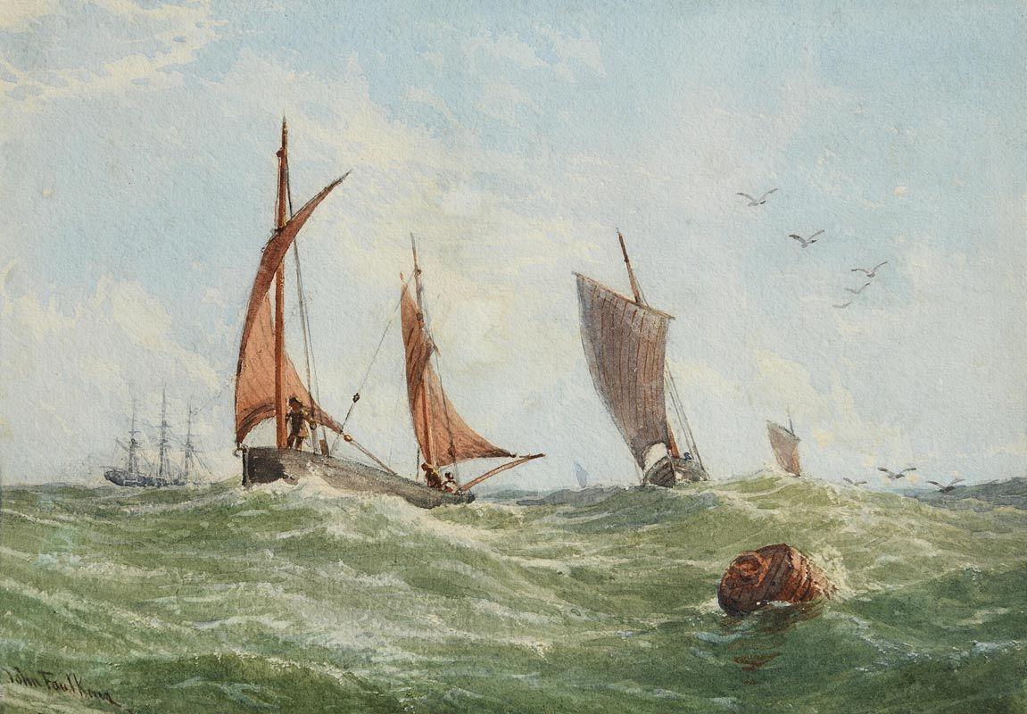 John Faulkner, Sailing in a Heavy Swell at Morgan O'Driscoll Art Auctions
