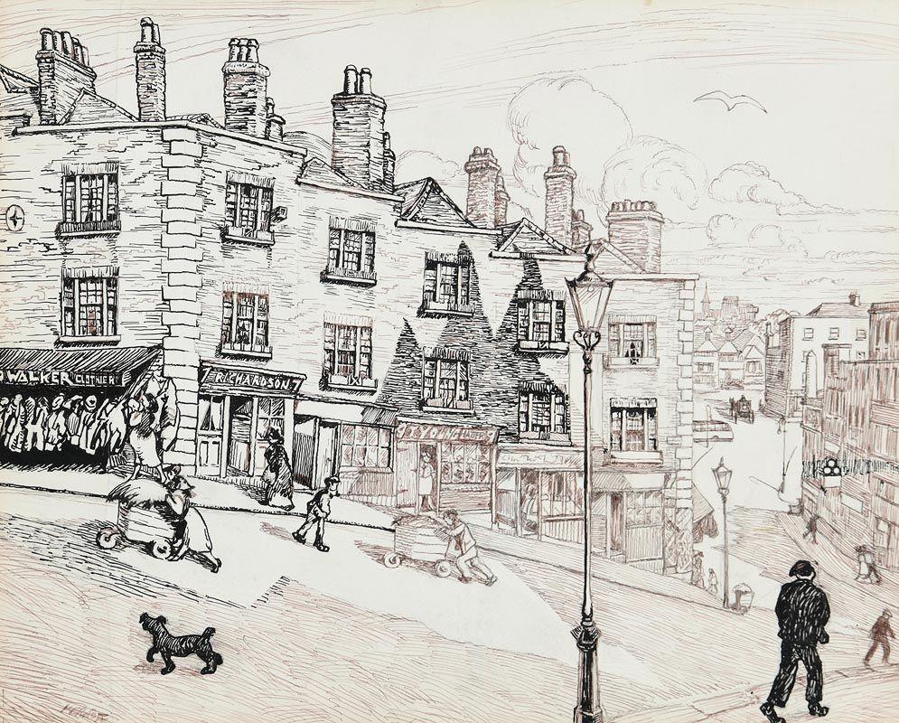 Harry Aaron Kernoff, St Michaels Hill, Winetavern Street, Dublin at Morgan O'Driscoll Art Auctions
