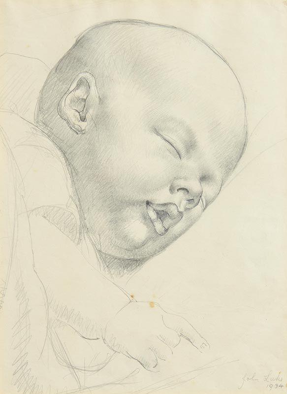 John Luke, Sleeping Child (1934) at Morgan O'Driscoll Art Auctions