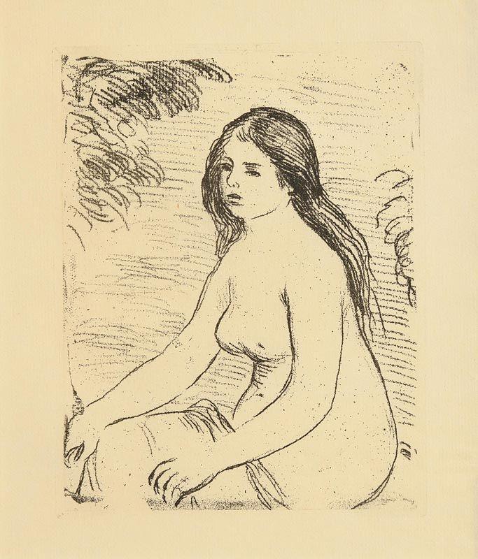 Pierre-Auguste Renoir, Femme nue assise (c.1906) at Morgan O'Driscoll Art Auctions