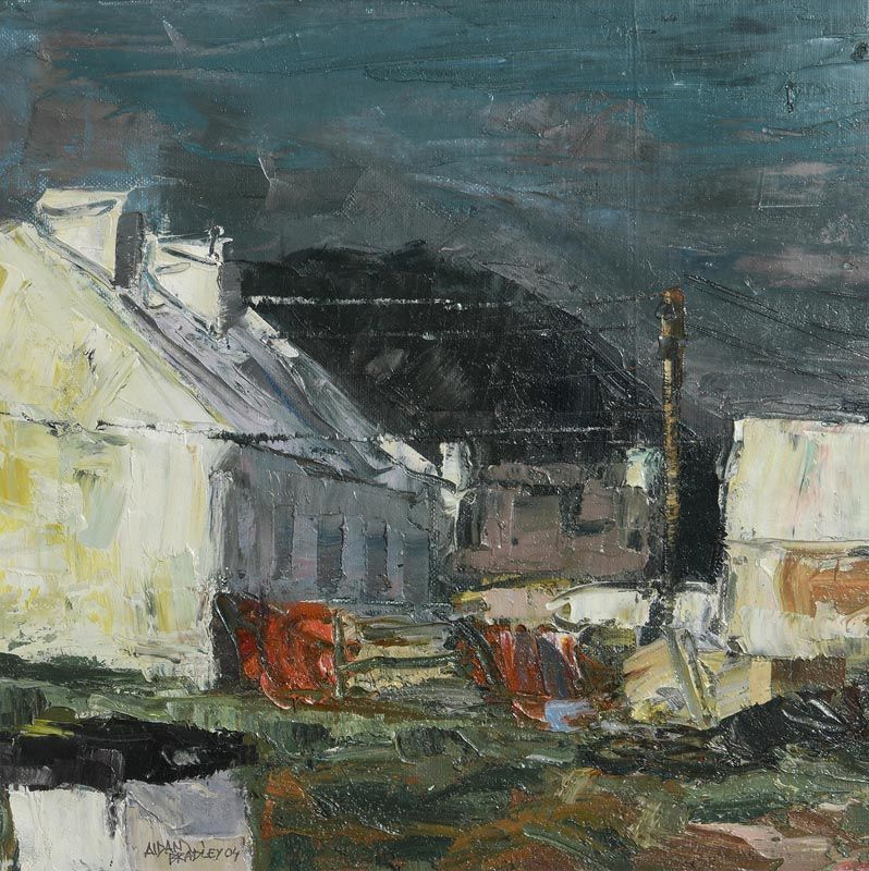 Aidan Bradley, Wet Day, Achill (2004) at Morgan O'Driscoll Art Auctions
