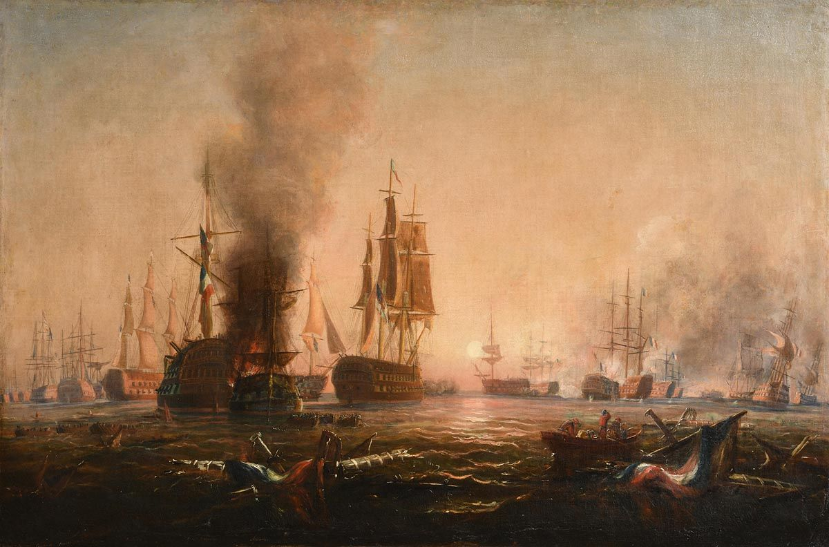 George Mounsey Wheatley Atkinson (1806-1884), The Close of the Battle of the Nile at Morgan O'Driscoll Art Auctions