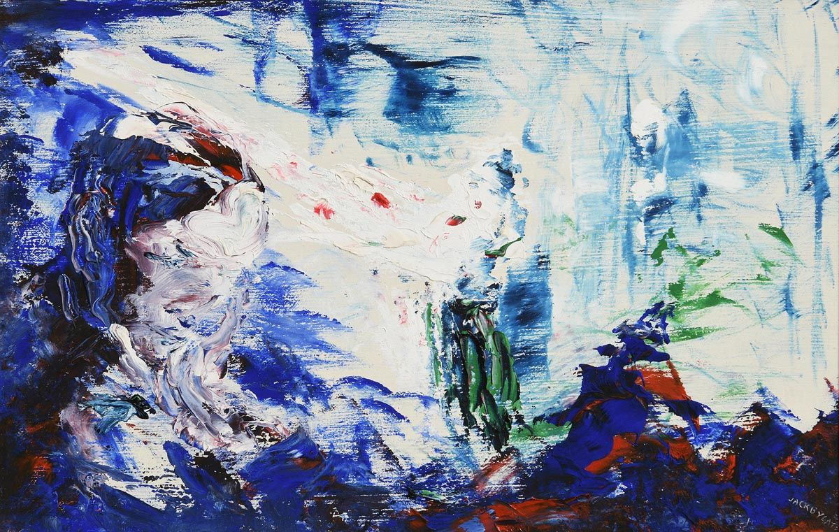 Jack Butler Yeats, Man Hearing an Old Song (1949) at Morgan O'Driscoll Art Auctions