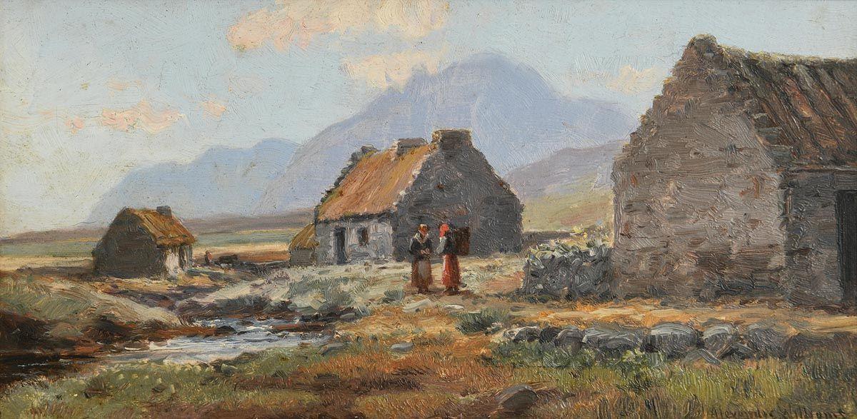 Alexander Williams, West of Ireland Farmstead at Morgan O'Driscoll Art Auctions