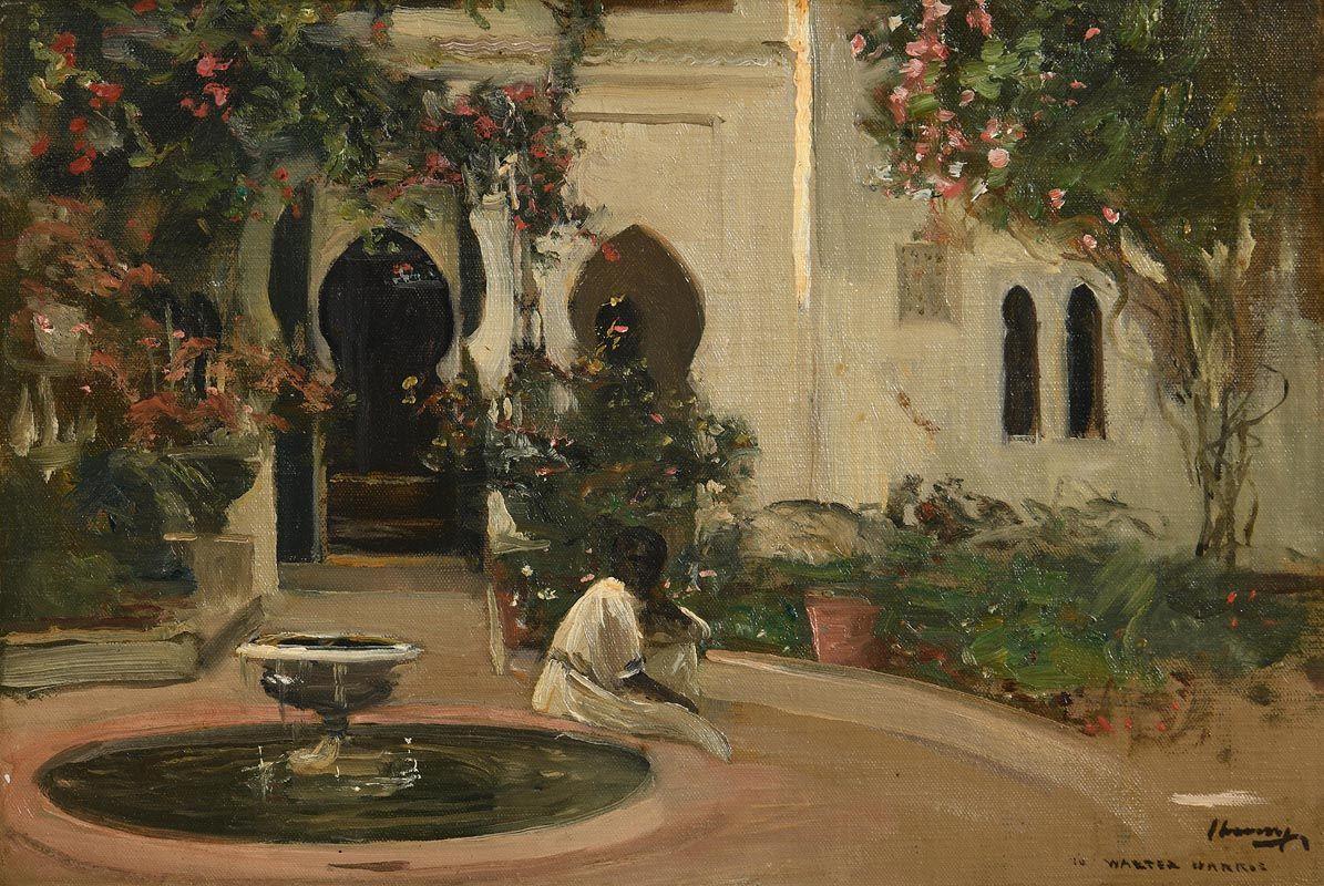 Sir John Lavery, The House of Walter Harris at Tangier at Morgan O'Driscoll Art Auctions