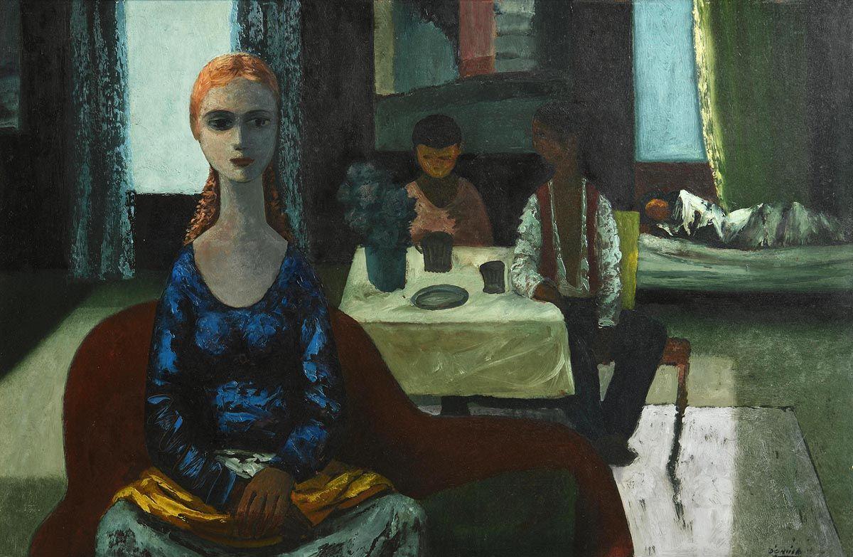 Daniel O'Neill, Interior at Morgan O'Driscoll Art Auctions