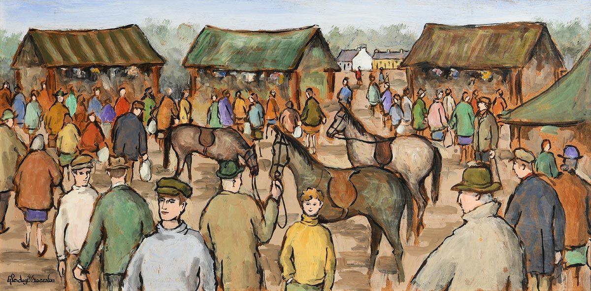 Gladys MacCabe, Fair Day at Morgan O'Driscoll Art Auctions