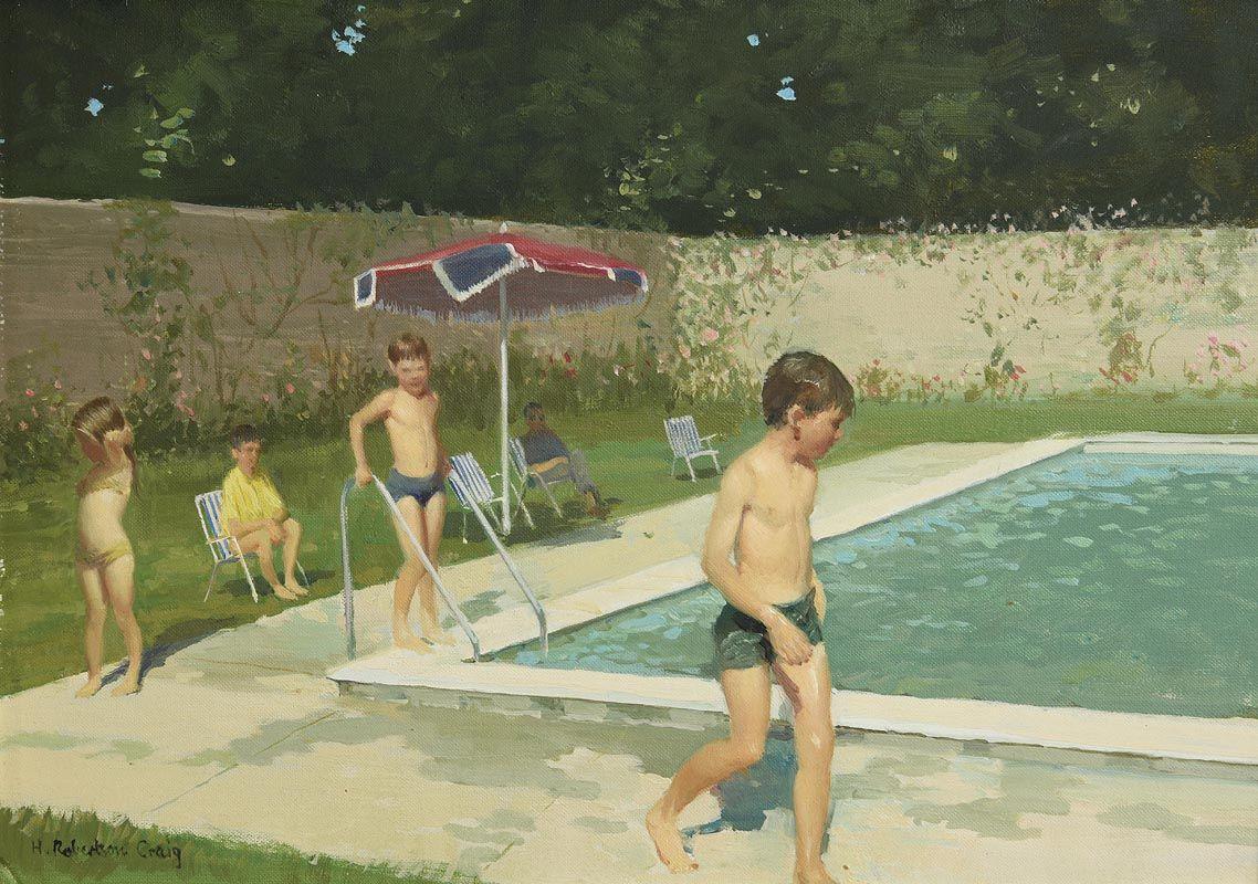 Henry Robertson Craig, The Swimming Pool at Morgan O'Driscoll Art Auctions
