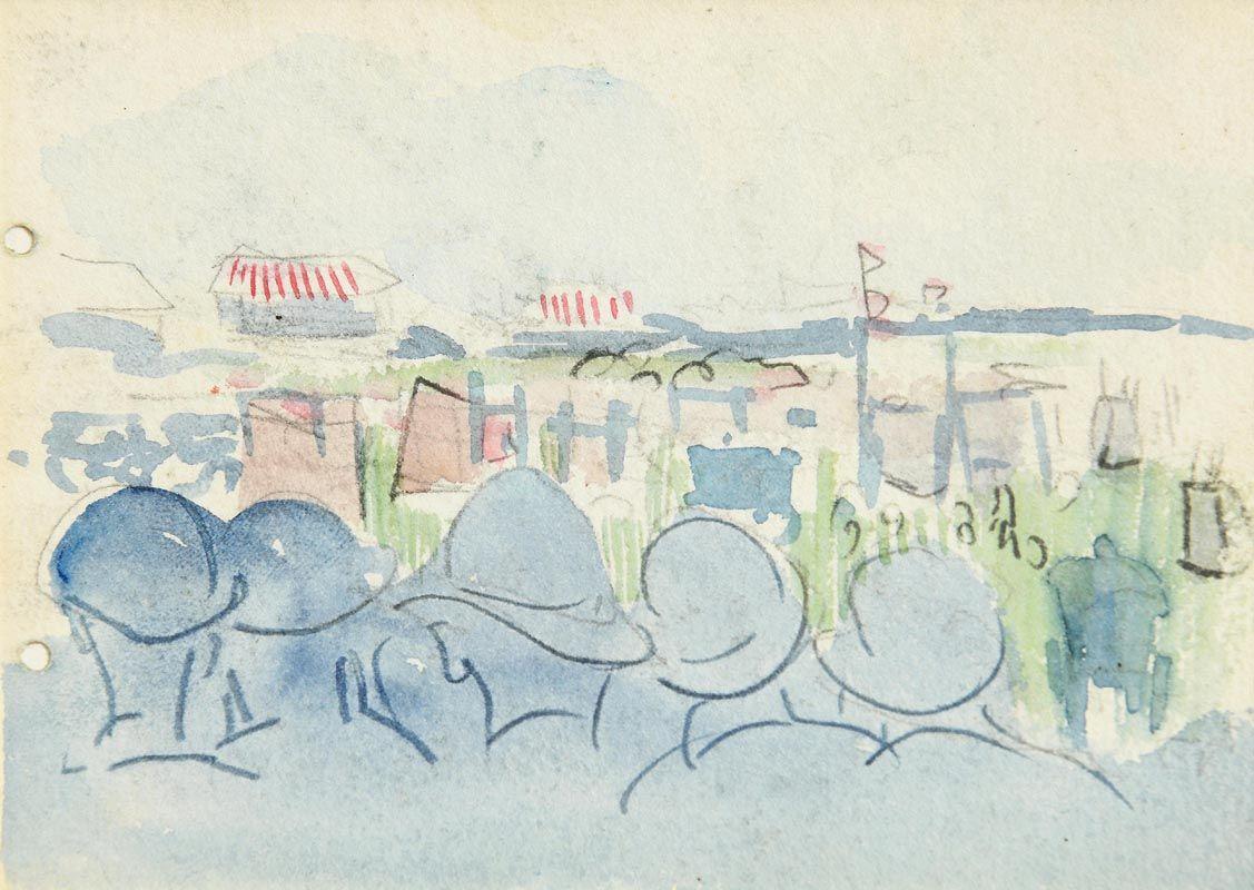 Jack Butler Yeats, At The Races at Morgan O'Driscoll Art Auctions