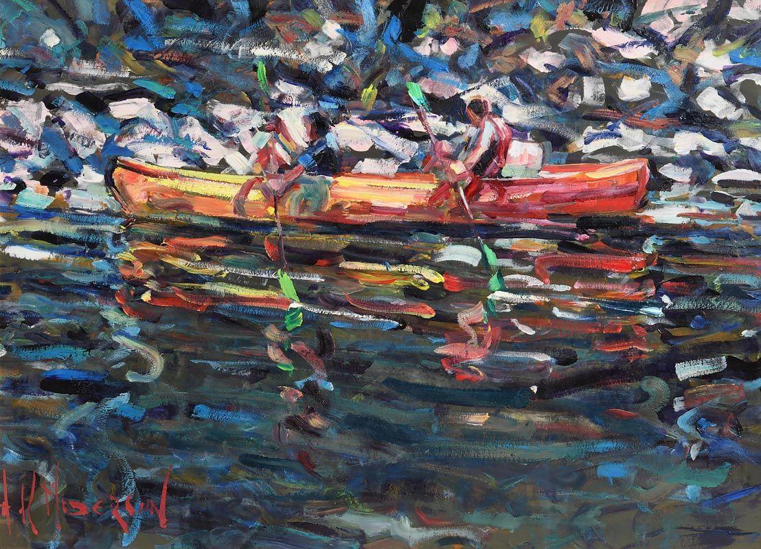 Arthur K. Maderson, Study, River Herault, France at Morgan O'Driscoll Art Auctions