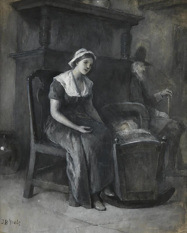 John Butler Yeats, A Quiet Time (It is likely Lily Yeats is the model for the girl) at Morgan O'Driscoll Art Auctions