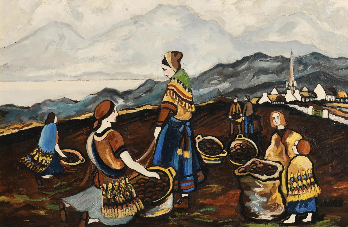 Markey Robinson, The Potato Harvest at Morgan O'Driscoll Art Auctions