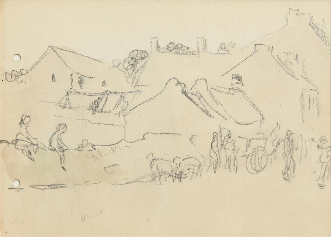 Jack Butler Yeats, Market Day, Sligo at Morgan O'Driscoll Art Auctions