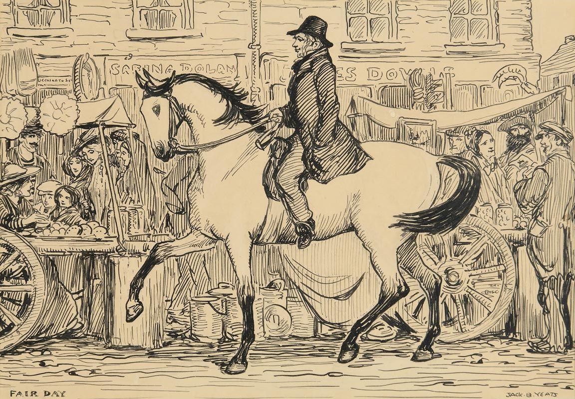 Jack Butler Yeats, Fair Day at Morgan O'Driscoll Art Auctions