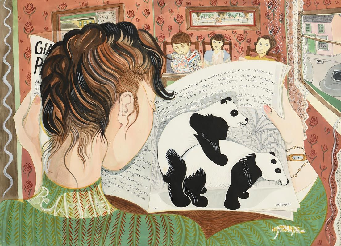 Pauline Bewick, The Waiting Room (1982) at Morgan O'Driscoll Art Auctions