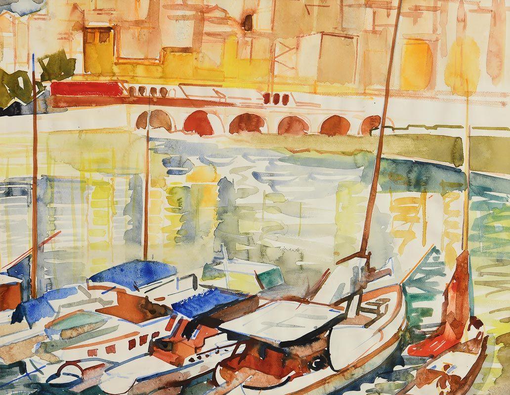 Fr. Jack P. Hanlon, Harbour Reflections at Morgan O'Driscoll Art Auctions