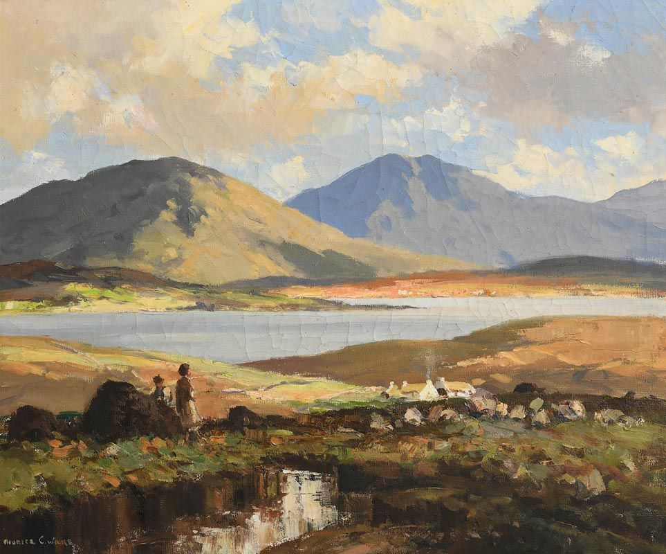 Maurice Canning Wilks, Connemara Landscape, Ballynahinch, Co. Galway at Morgan O'Driscoll Art Auctions
