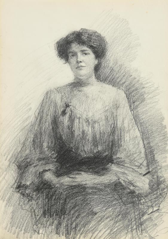 John Butler Yeats, Seated Lady at Morgan O'Driscoll Art Auctions