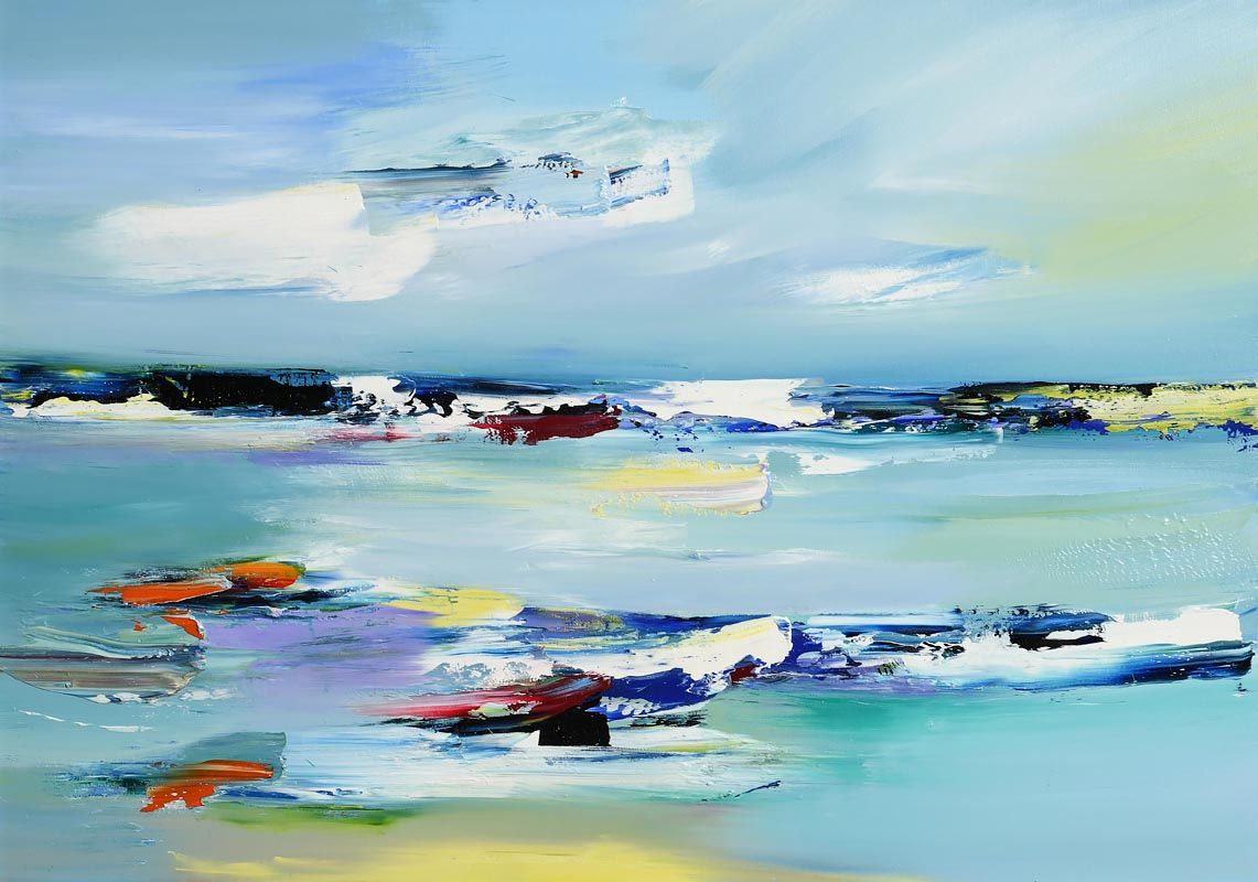 Majella O'Neill Collins, A View from the Dock Pier, Sherkin Island (2020) at Morgan O'Driscoll Art Auctions