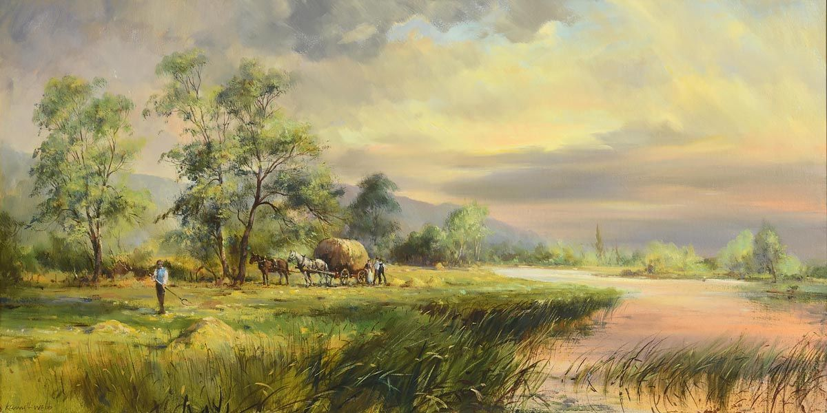 Kenneth Webb, Gathering the Harvest at Morgan O'Driscoll Art Auctions