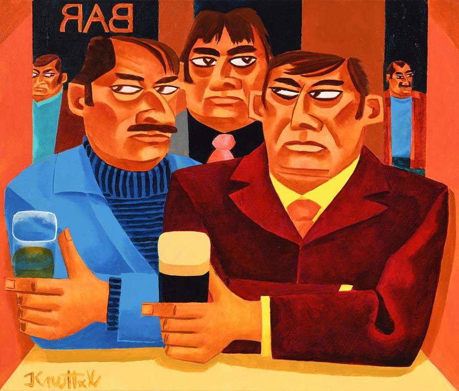 Graham Knuttel, The Watchers at Morgan O'Driscoll Art Auctions