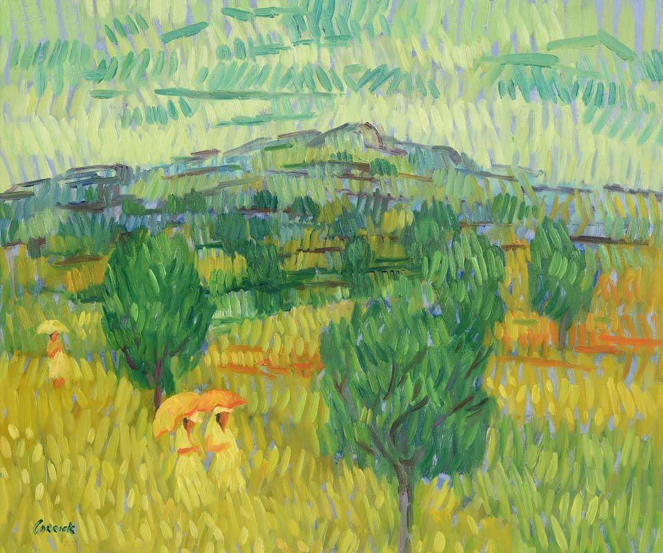 Desmond Carrick, Olive Grove Stroll at Morgan O'Driscoll Art Auctions