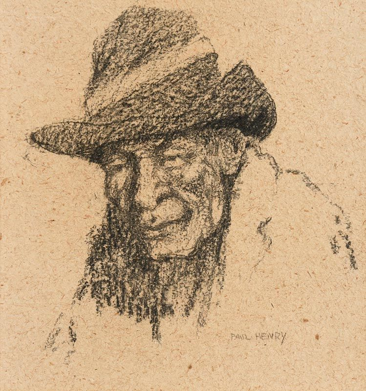 Paul Henry, Head of an Old Achill Man (1910-13) at Morgan O'Driscoll Art Auctions