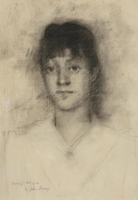 Sir John Lavery, Portrait of Mrs. Heseltine at Morgan O'Driscoll Art Auctions