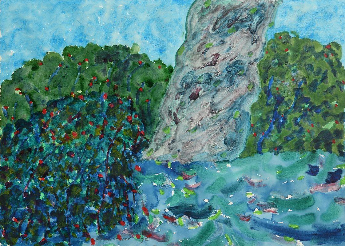 William Crozier, The Budding Bush (1985) at Morgan O'Driscoll Art Auctions