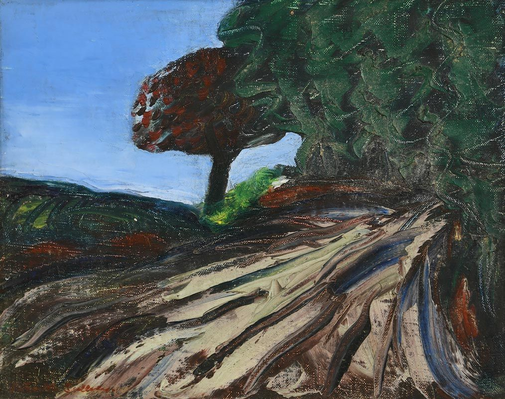 Trees on the Hill at Morgan O'Driscoll Art Auctions